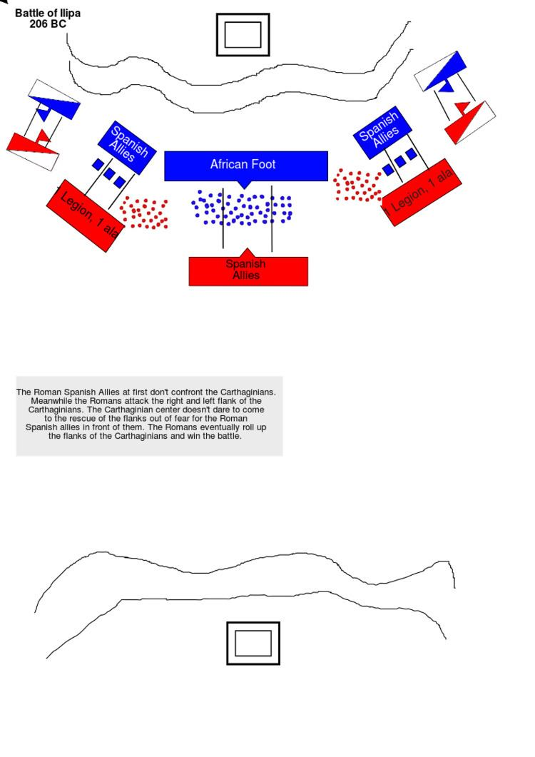 Battle of Ilipa Battle Of Ilipa Map