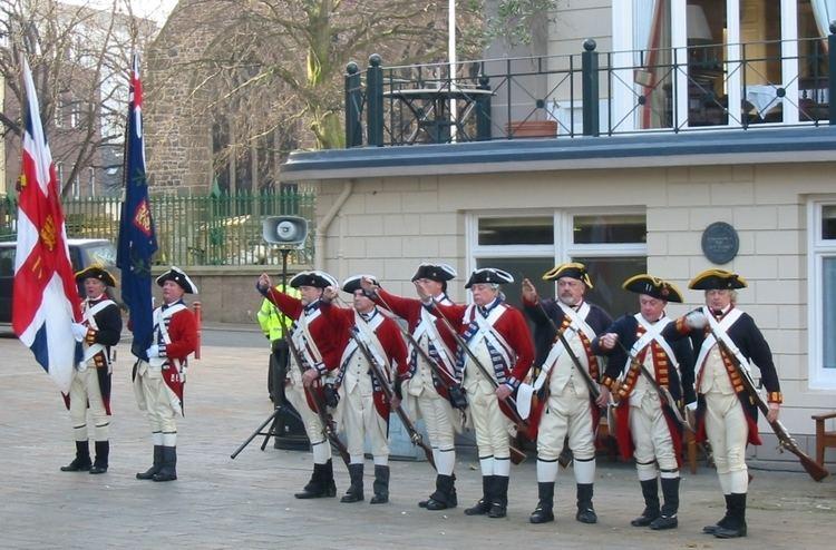 Battle of Jersey FileJersey militia reenactment Battle of Jersey anniversary 2009 a