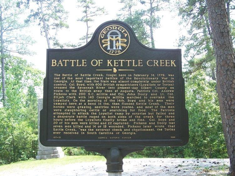 Battle of Kettle Creek Wilkes County GAGenWeb