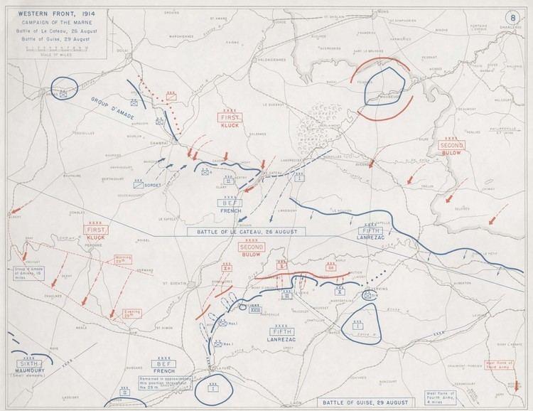 Battle of Le Cateau First World Warcom Battles The Battle of Le Cateau 1914