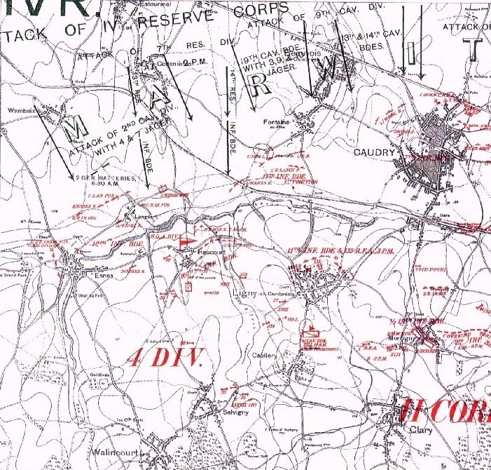 Battle of Le Cateau wwwlonglongtrailcoukmapslecateauMjpg