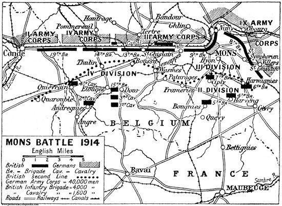 Battle of Mons The Battle of Mons The Long Long Trail