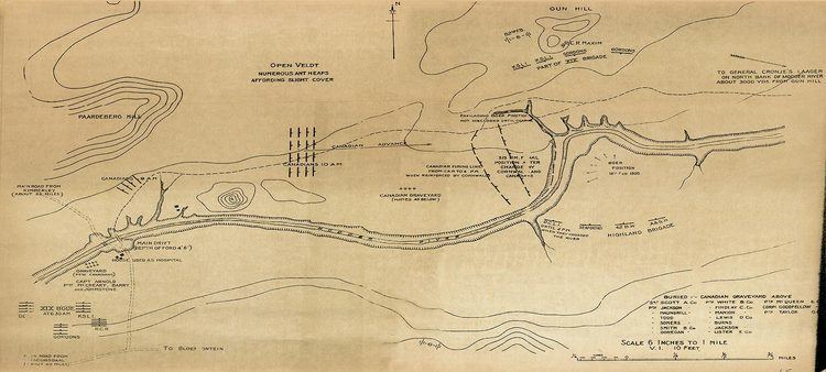 Battle of Paardeberg WarMuseumca South African War Maps Maps of the Battle of