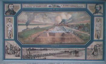 Battle of Paducah wwwtrailsruscomcivilwarregion1fortmural2JPG