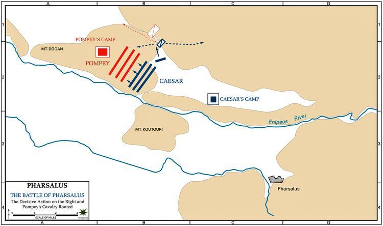 Battle of Pharsalus Map of the Battle of Pharsalus 48 BC