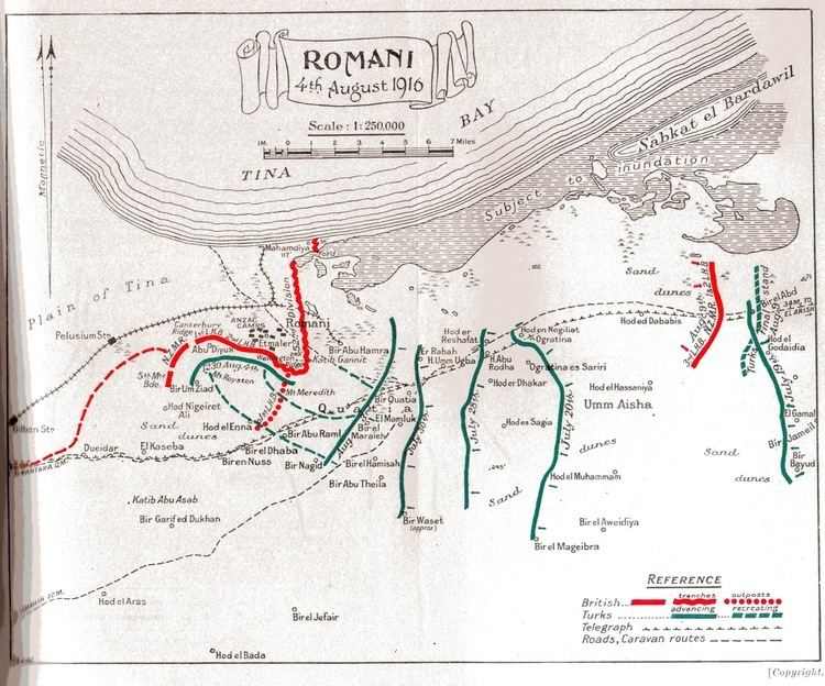 Battle of Romani 42nd East Lancashire Infantry Division Wikipedia