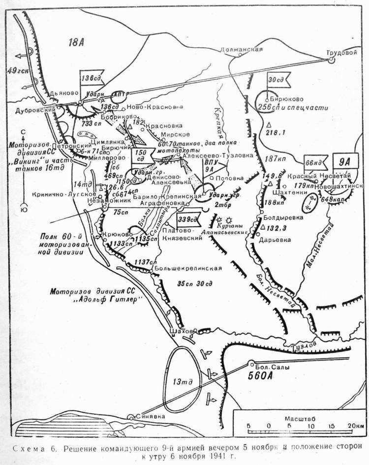 Battle of Rostov (1941) Maps 1941 South