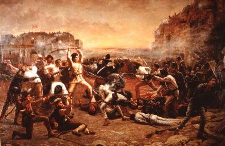 Battle of San Jacinto Battle of San Jacinto Sam Houston Defeats Mexicans quotMe No Alamo