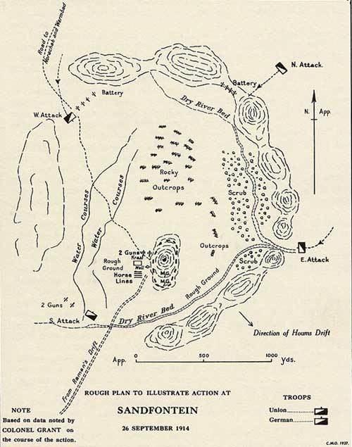 Battle of Sandfontein wwwimperialresearchnetimgsandmapjpg