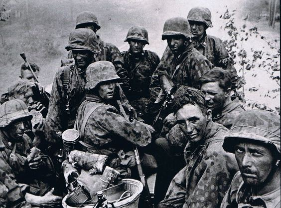 Battle of Smolensk (1941) SS Soldiers rests after the battle of Smolensk 1941 Yes the Nazis