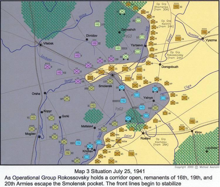 Battle of Smolensk (1941) No Yelnya bridgehead during battle of Smolensk 1941 Alternate