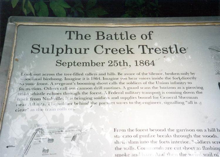 Battle of Sulphur Creek Trestle Battle of Sulphur Creek Trestle northern Alabama