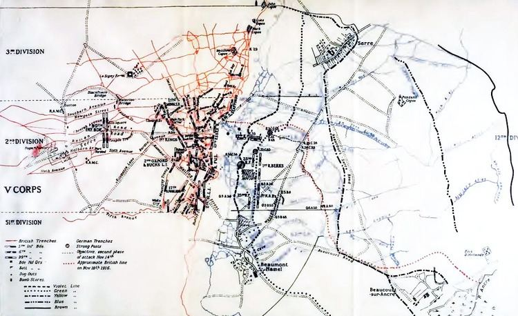 Battle of the Ancre File2nd Division Battle of the Ancre November 1916png Wikimedia