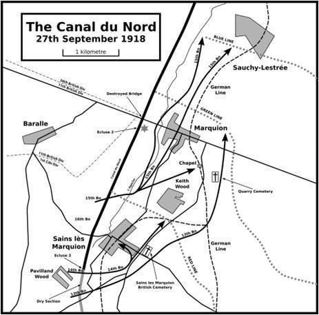 Battle of the Canal du Nord Canal du Nord 15th Battalion CEF