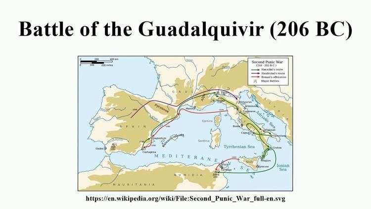 Battle of the Guadalquivir (206 BC) Battle of the Guadalquivir 206 BC YouTube