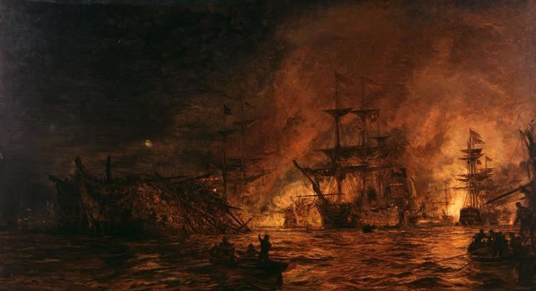 Battle of the Nile The Battle of the Nile39 William Lionel Wyllie 1899 Tate