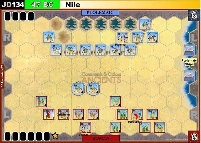 Battle of the Nile (47 BC) JD134 Nile 47 BC Ancients Commands and Colors System
