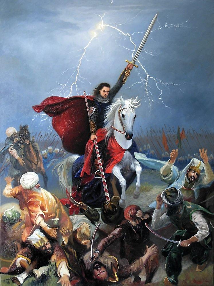 Battle of Vaslui The appearance of St George patron saint of the hosts of Moldova