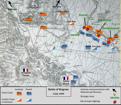 Battle of Wagram httpsuploadwikimediaorgwikipediacommonsthu