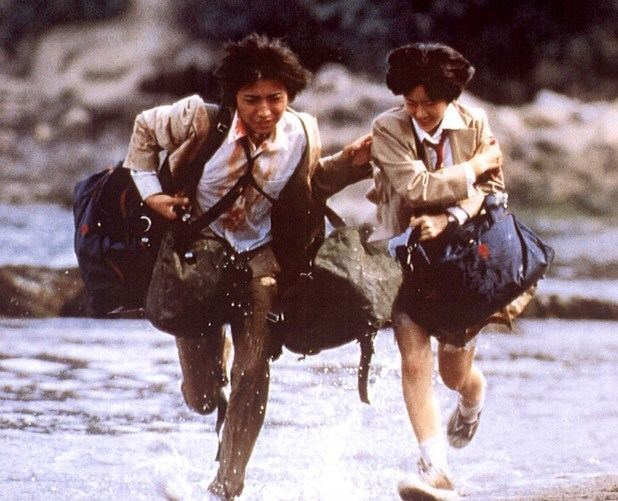 Battle Royale (film) movie scenes Still from the 2000 film Battle Royale