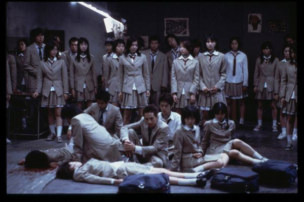 Battle Royale (film) movie scenes Adapted from the novel of the same name by Koushun Takami Battle Royale is a Japanese futuristic action comedy with a healthy dose of black humour