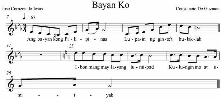 Bayan Ko - super instrumental guitar karaoke cover with