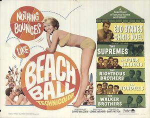 Beach Ball (film) Beach Ball 1965 Original Movie Poster Comedy Musical eBay