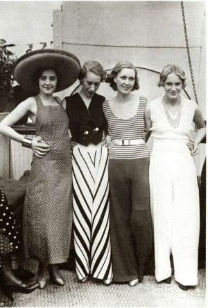 Beach Pajamas 1930s Womens Pants and Beach Pajamas