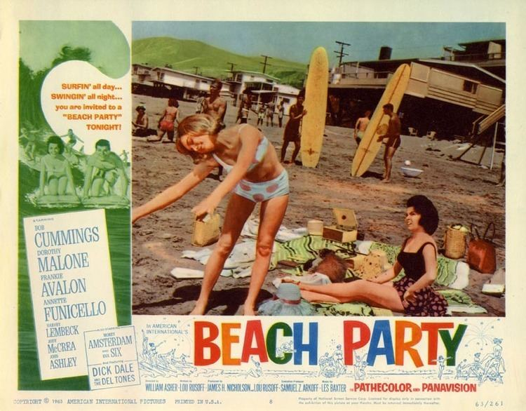 Beach Party movie scenes Lobby Card for Beach Party 1963