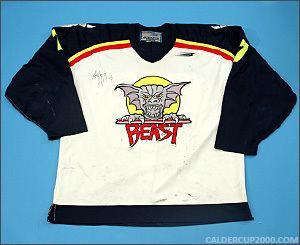 Beast of New Haven Ashlin Halfnight Beast of New Haven Game Worn Jersey CalderCup2000com