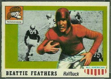 Beattie Feathers Beattie Feathers 1955 Topps AllAmerican 98 Vintage
