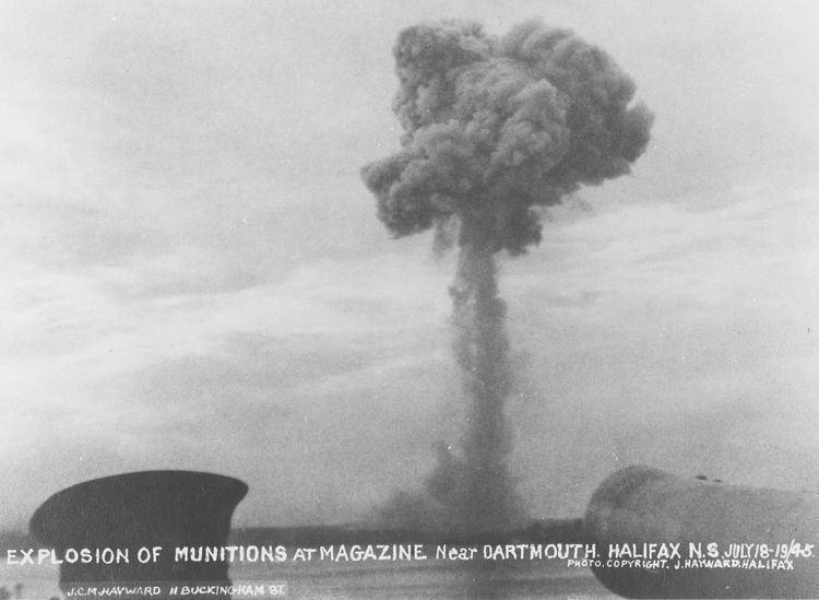 Bedford Magazine explosion