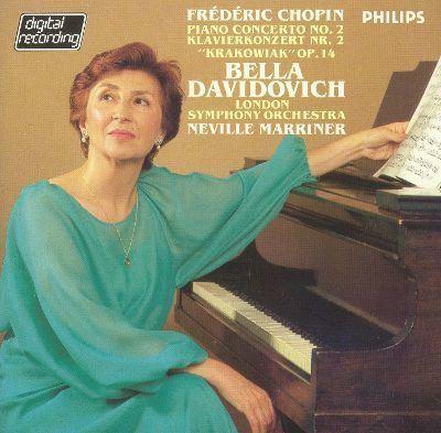 Bella Davidovich Frdric Chopin Piano Concerto No 2 Krakowiak Op 14