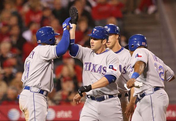 Ben Broussard Ben Broussard Pictures Texas Rangers v Los Angeles