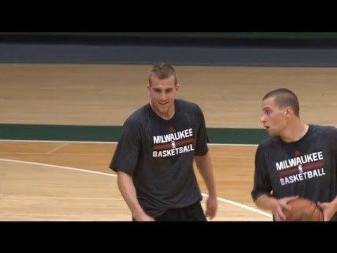 Ben Brust Draft Workout 2014 Ben Brust Jake Thomas Mike Moser and Taylor