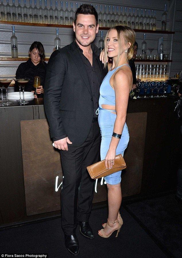 Ben Mingay Ben Mingay and girlfriend Kirby Burgess turn shy after