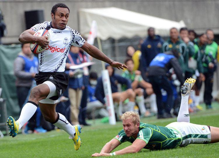 Benito Masilevu Fiji39s Benito Masilevu races down the touchline against