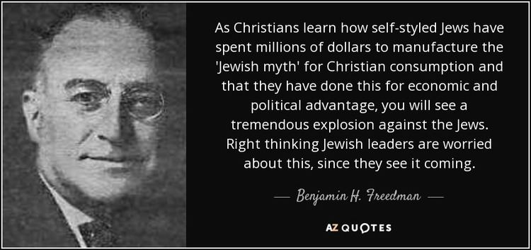 Benjamin H. Freedman QUOTES BY BENJAMIN H FREEDMAN AZ Quotes