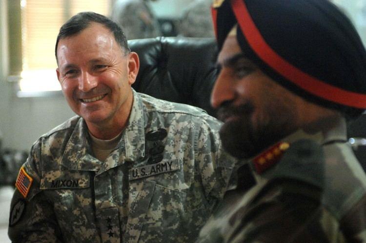 Benjamin R. Mixon FileArmy Lt Gen Benjamin R Mixon talks with the director of
