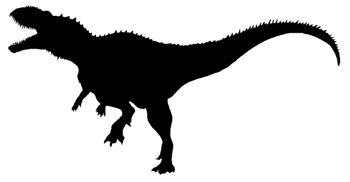 Berberosaurus Berberosaurus Silhuetas and silhouettes