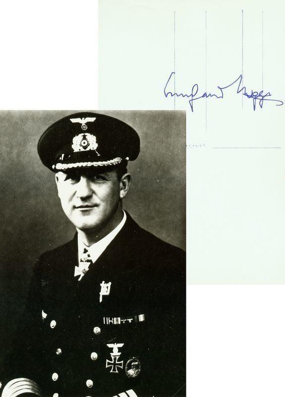 Bernhard Rogge 0339 SEA RAIDER BERNHARD ROGGE SIGNED PHOTO Lot 339