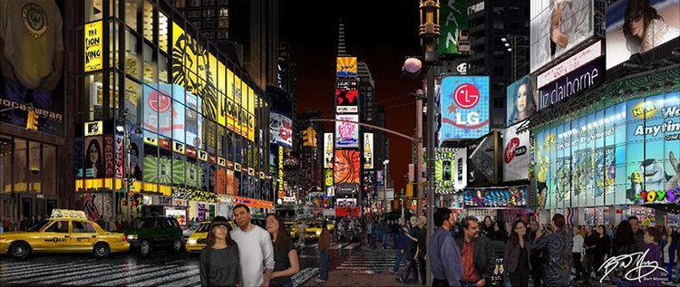 Bert Monroy Times Square by Bert Monroy Adobe Illustrator blog