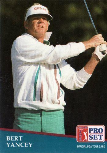 Bert Yancey BERT YANCEY 237 Proset 1991 SENIOR PGA Tour Golf Trading Card