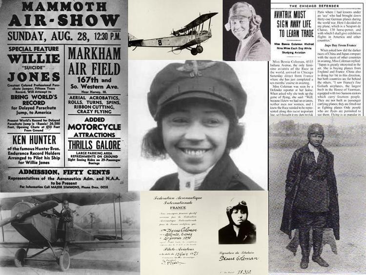 Bessie Coleman AVIATIONS PIONEER COLORFUL WOMEN PROGRAM