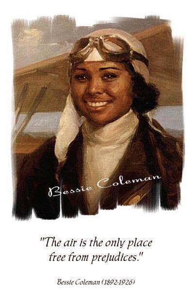 Bessie Coleman Elizabeth Bessie Coleman Aviator Quotes by Women Pinterest