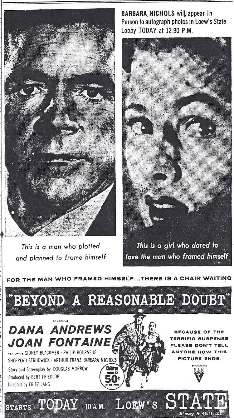 Beyond a Reasonable Doubt (1956 film) Beyond a Reasonable Doubt 1956 Fritz Lang Twenty Four Frames