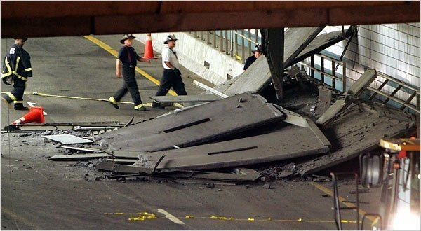 Big Dig ceiling collapse Collapse of Big Dig Ceiling in Boston Is Tied to Glue The New York