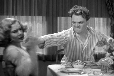Big House Bunny movie scenes Cagney mashes a grapefruit into Mae Clarke s face in a famous scene from Cagney s breakthrough movie The Public Enemy 1931
