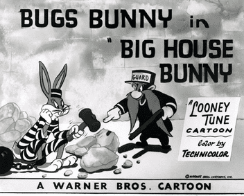 Big House Bunny movie scenes Looney Tunes Bugs Bunny series BigHouseBunny Lobby Card png