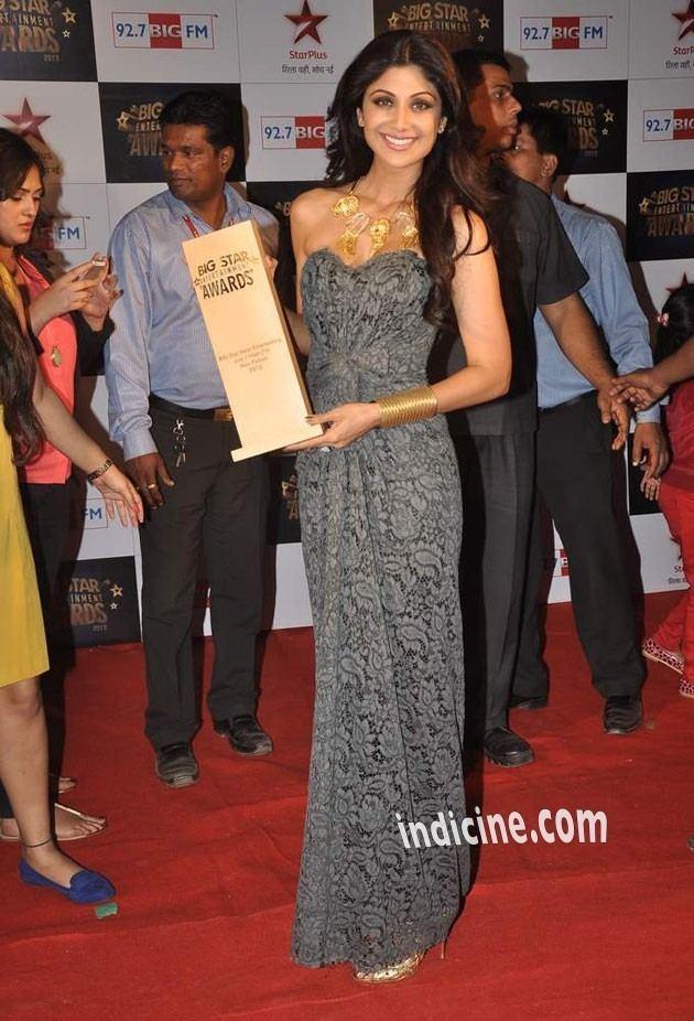 BIG Star Entertainment Awards ShilpaShettyatBigStarEntertainmentAwards2013jpg